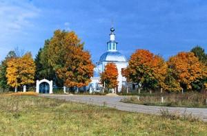 Храм Успения Пресвятой Богородицы в селе Себино Тульской области, где родилась Матронушка